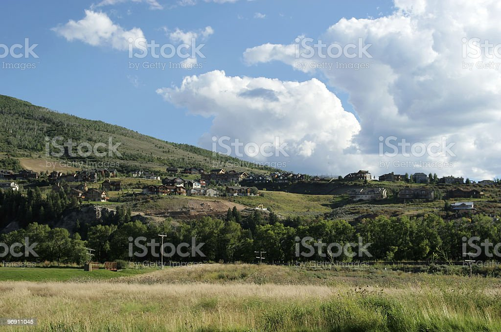 Small rural town royalty-free stock photo