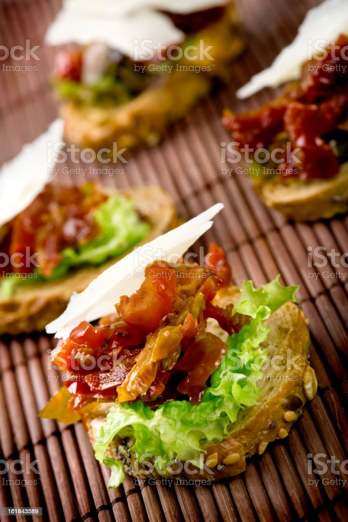 Small sandwiches royalty-free stock photo
