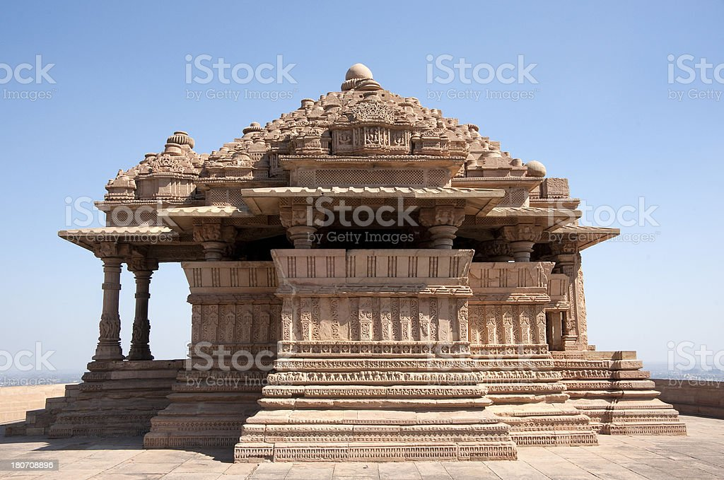 Small Sas Bahu Temple in Gwalior Fort. royalty-free stock photo