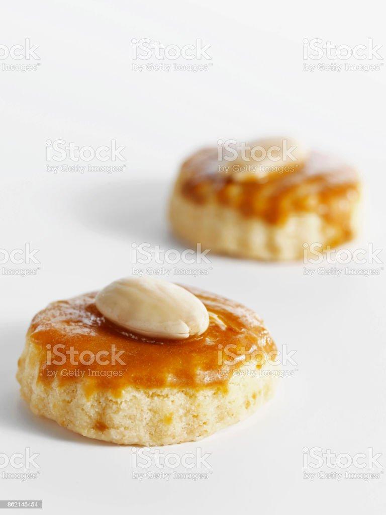 small savory cookies stock photo