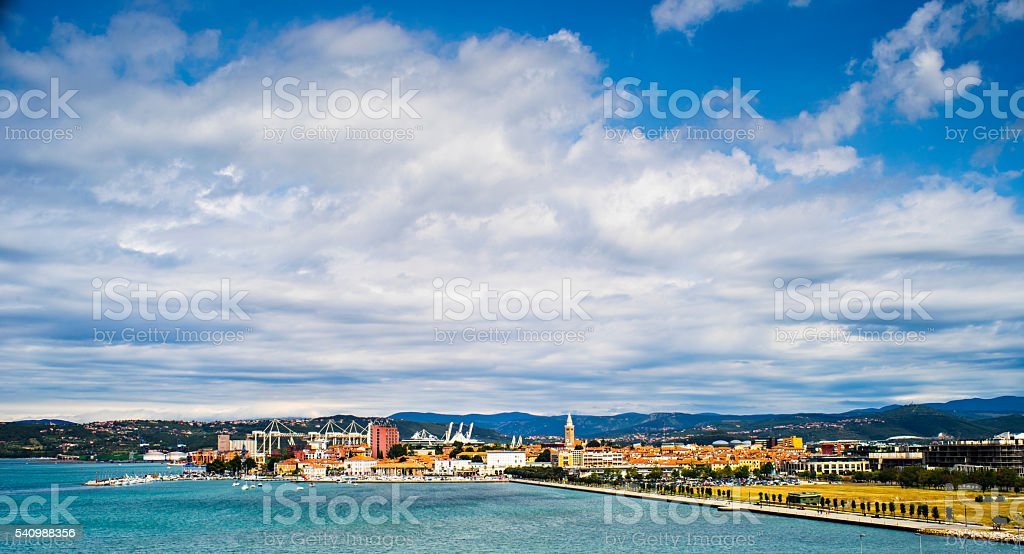 Small sea side city Koper stock photo