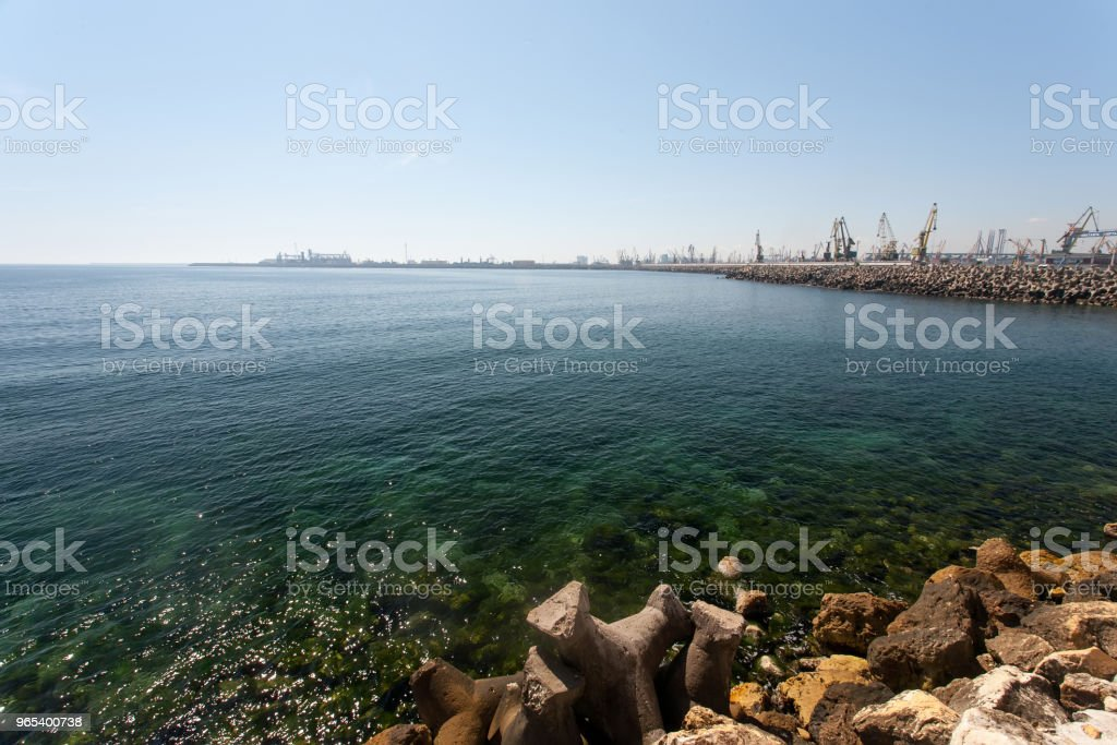 Petit port de Constanza, Roumanie - Photo de Bleu libre de droits