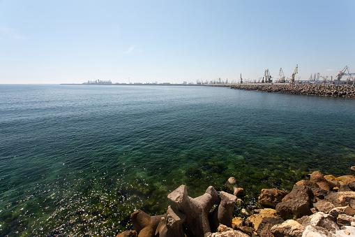 콘 스탠 쟈 라고 루마니아의 작은 항구 관광에 대한 스톡 사진 및 기타 이미지