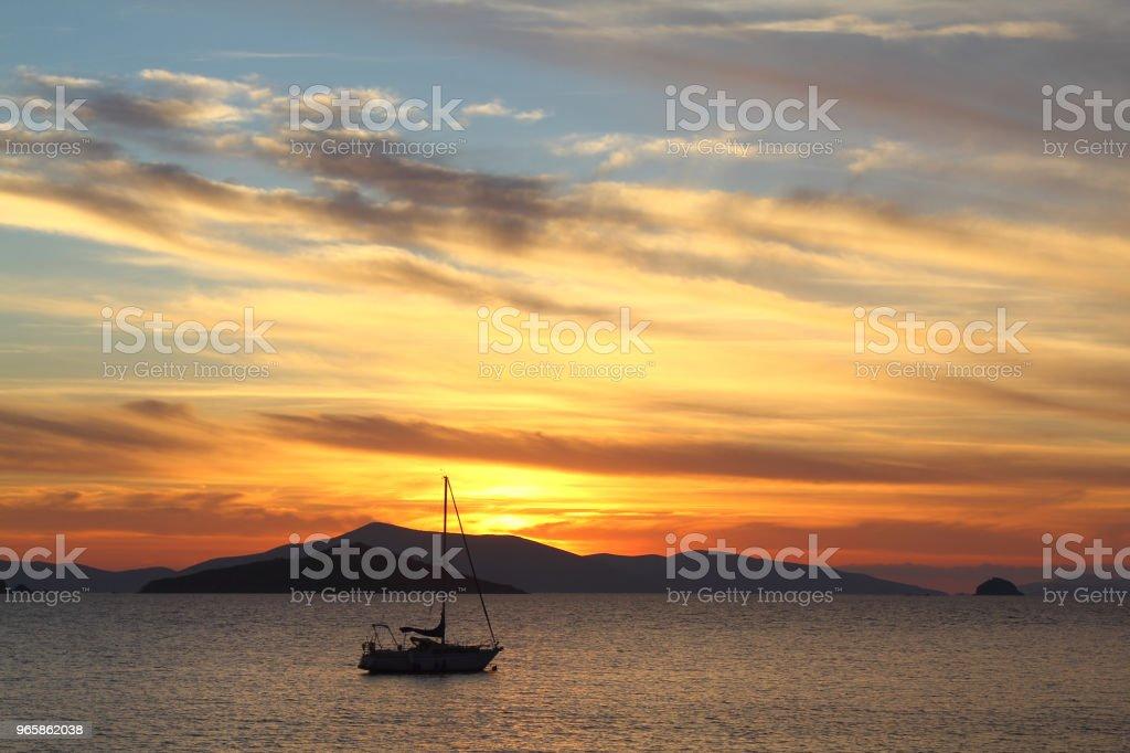 A small seaside town Turgutreis A small seaside town Turgutreis Aegean Islands Stock Photo