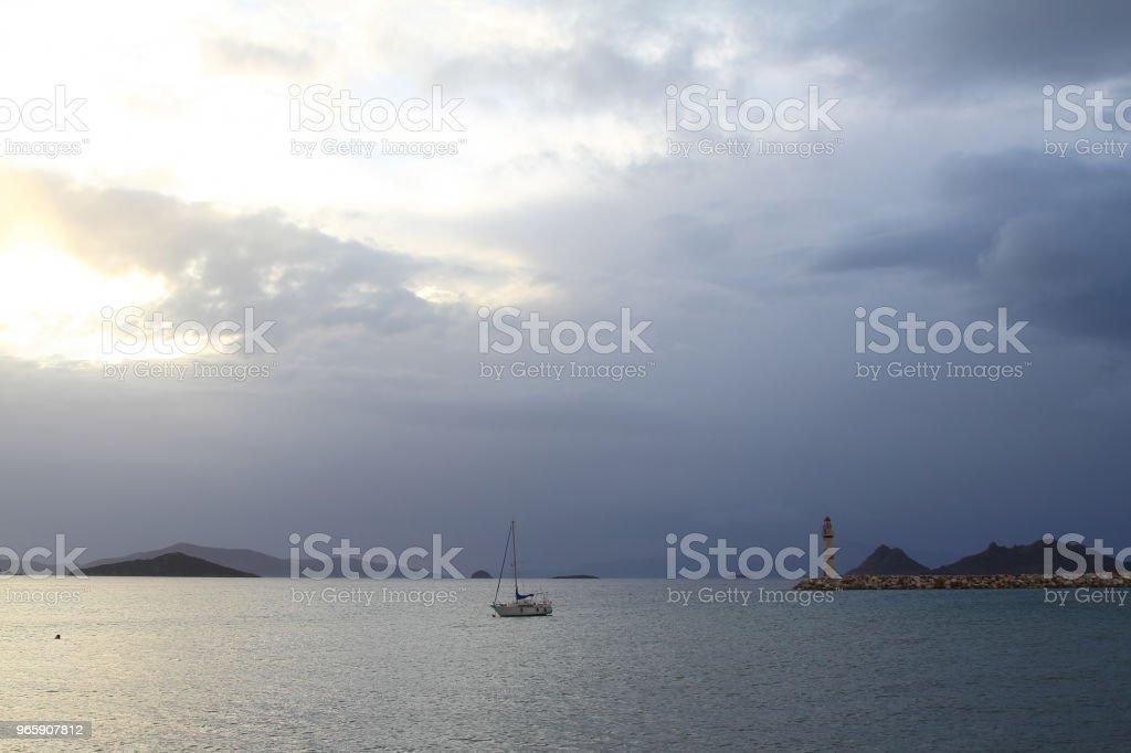 A small seaside town Turgutreis - Royalty-free Aegean Islands Stock Photo
