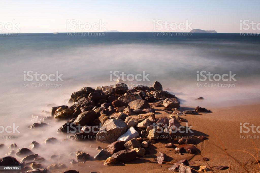 Een klein kustplaatsje Turgutreis - Royalty-free Azië Stockfoto