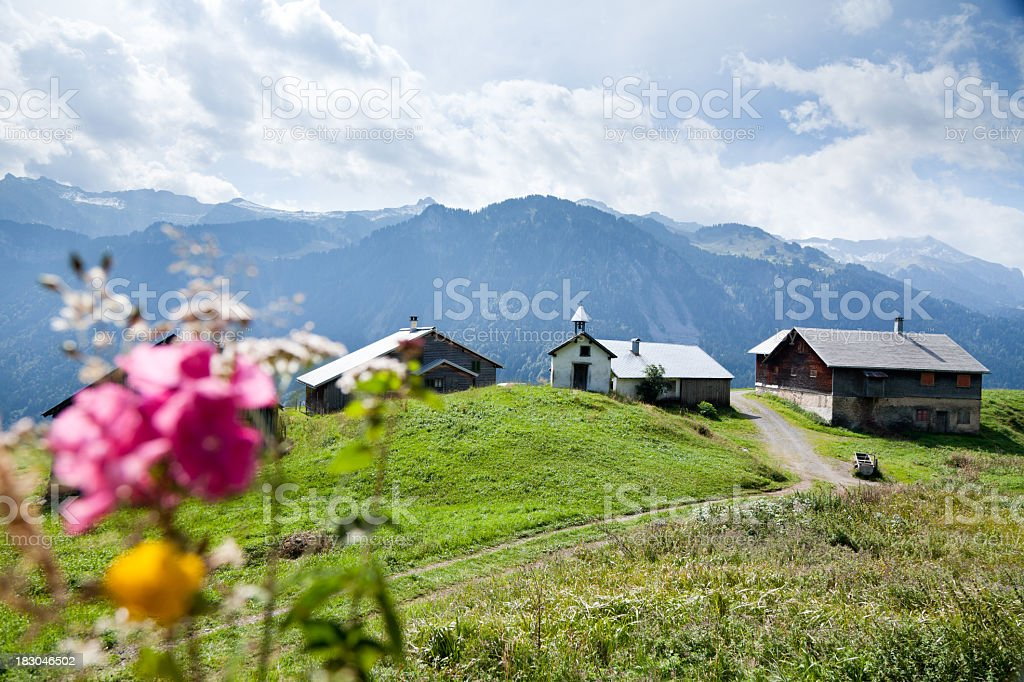 small settlement in the austrian alps royalty-free stock photo