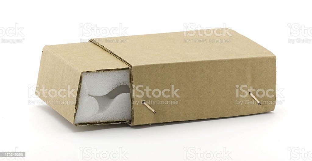 Small shipping box royalty-free stock photo