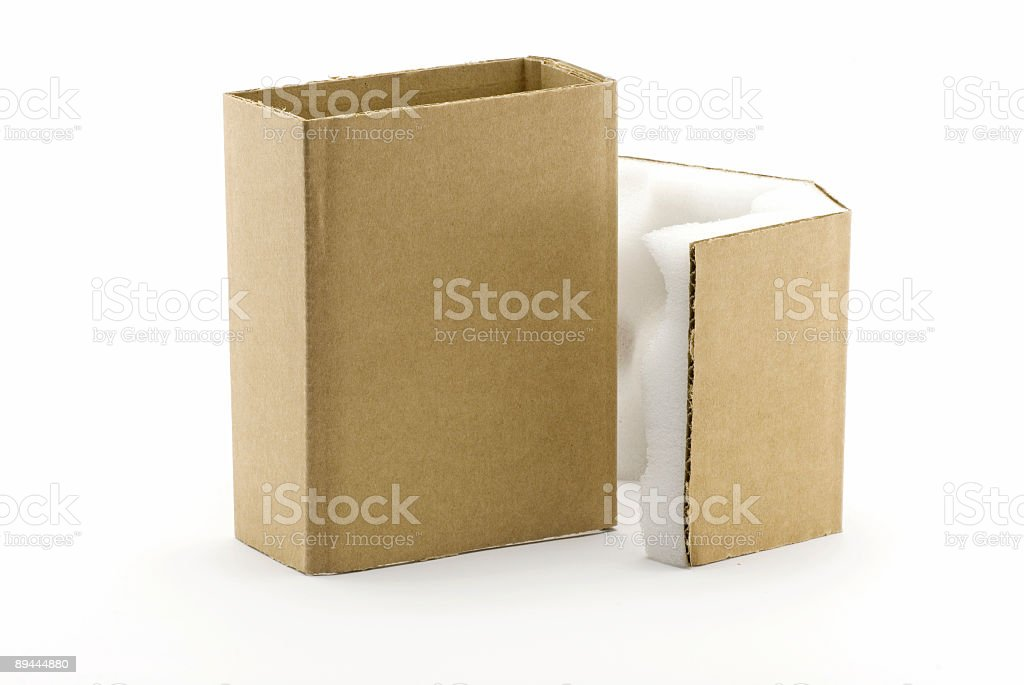 Small shipping box royalty-free stock photo