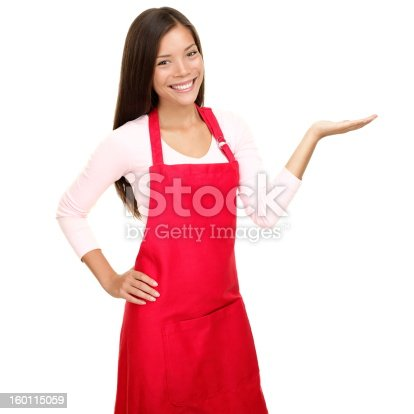 istock small shop owner showing in apron 160115059