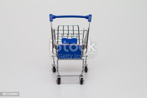 Small Shopping Cart  on white background