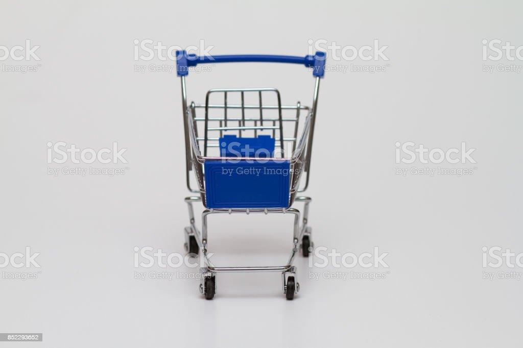 Small Shopping Cart  on white background stock photo
