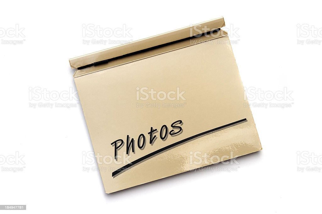 Small snapshot size photo album stock photo