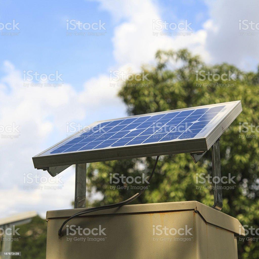 Small solar panel royalty-free stock photo