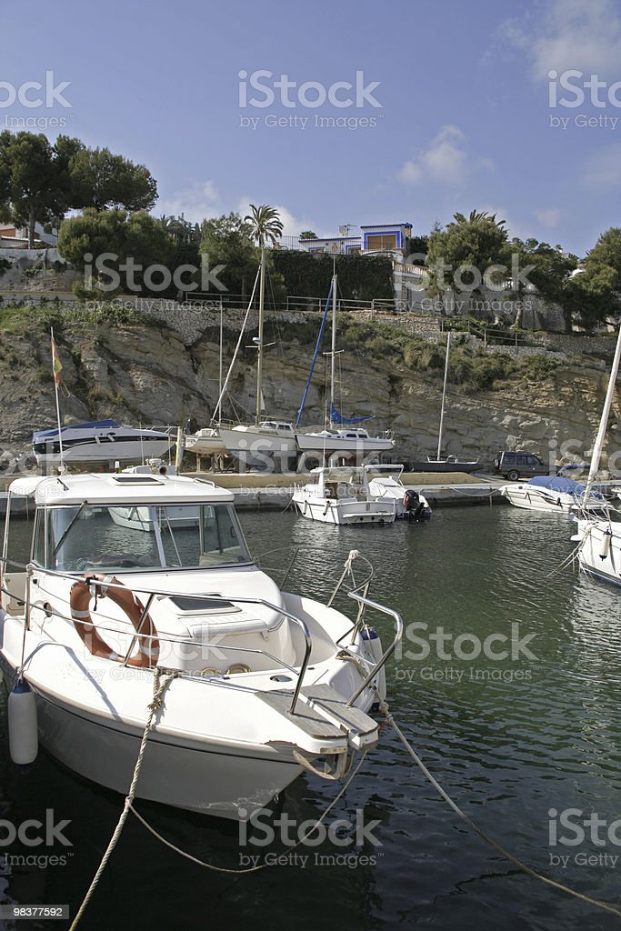 Small Spanish Harbour royalty-free stock photo