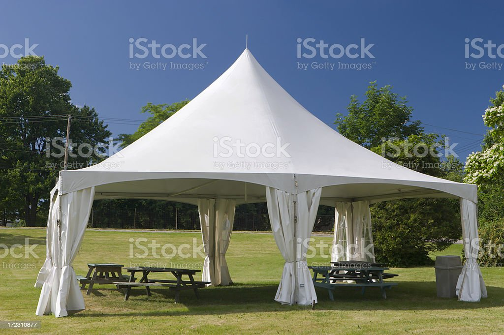 Small Special Event Marquee Tent stock photo