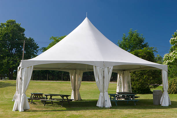 Small Special Event Marquee Tent  entertainment tent stock pictures, royalty-free photos & images