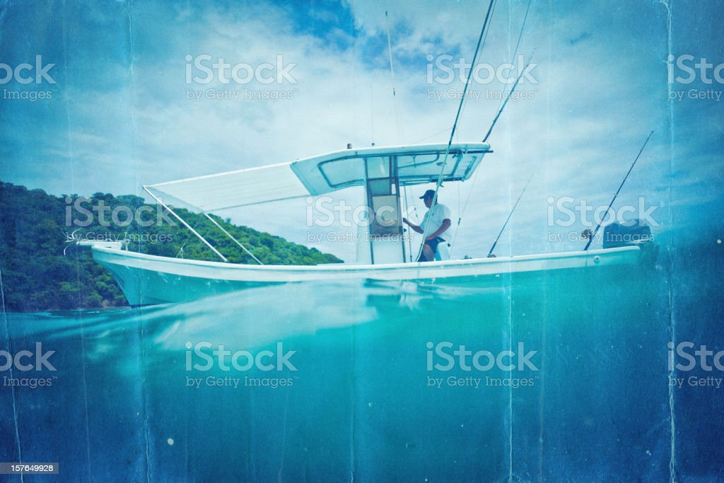 small sport fishing boat in costa rica royalty-free stock photo