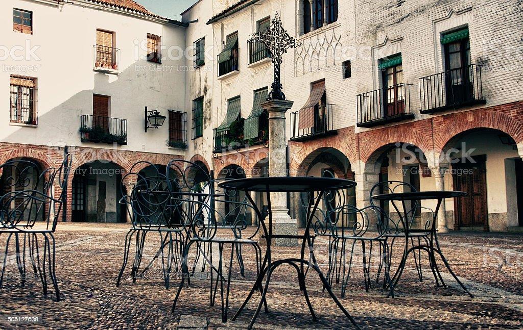 Small square of Zafra, Badajoz, Spain stock photo