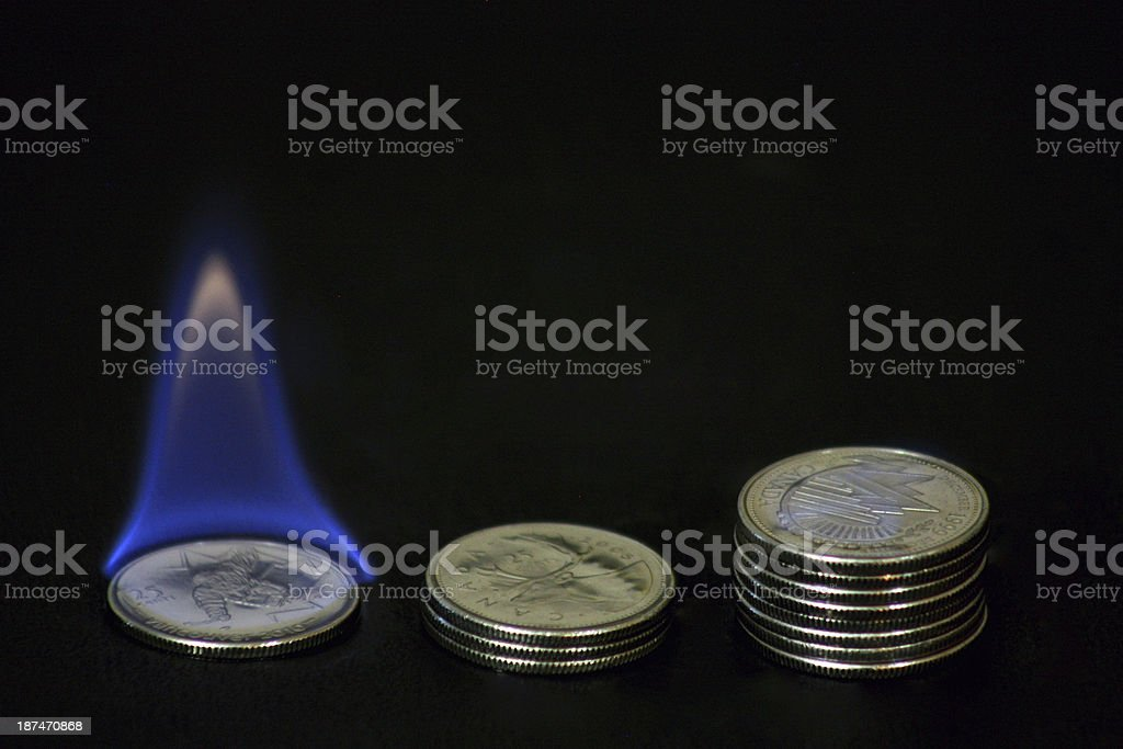 Small stack is burning stock photo
