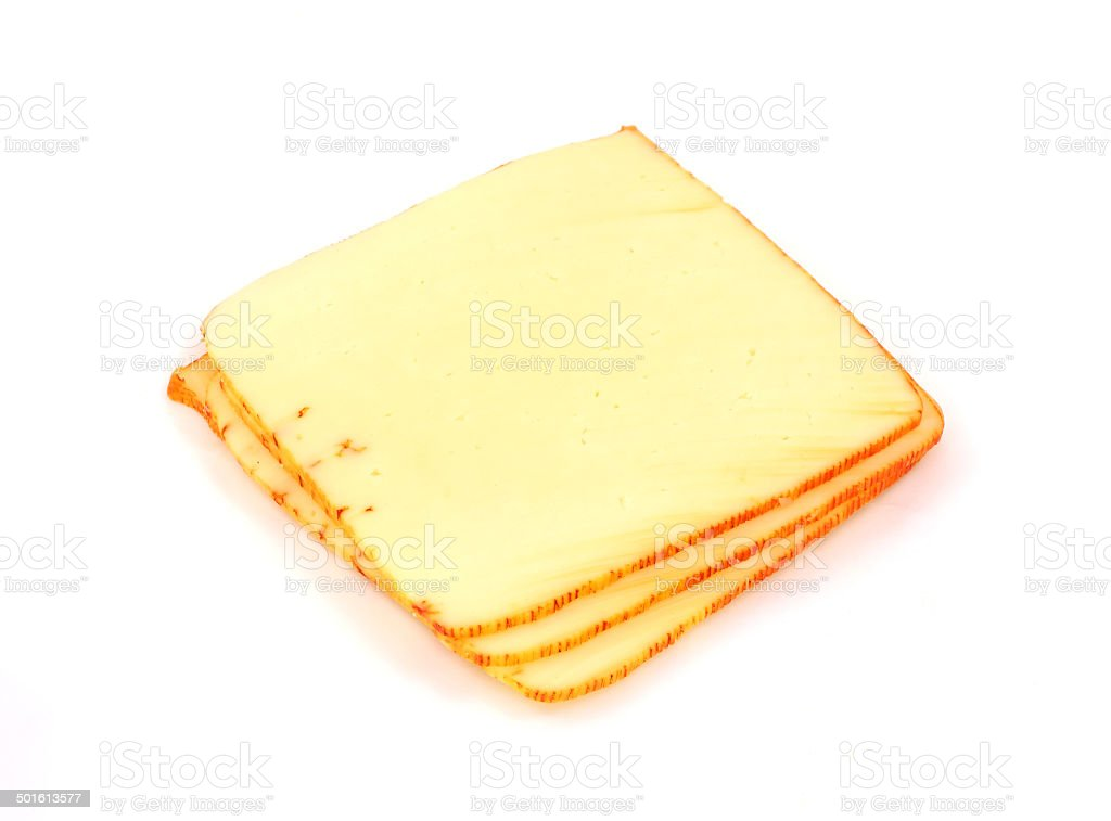 Small stack muenster cheese stock photo