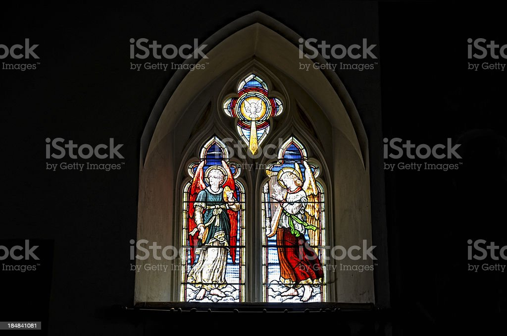 Small stained glass window royalty-free stock photo