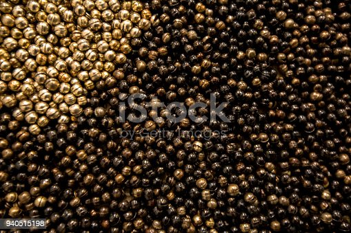 Small stainless steel metal ball background texture surface