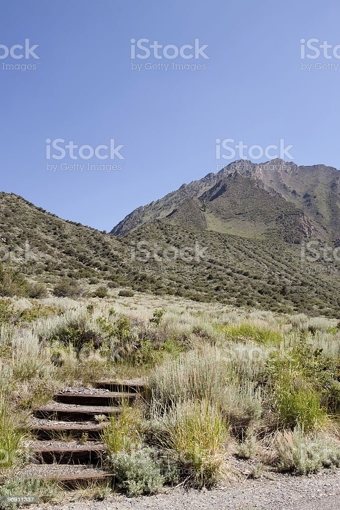 Small steps in the desert trail royalty-free stock photo