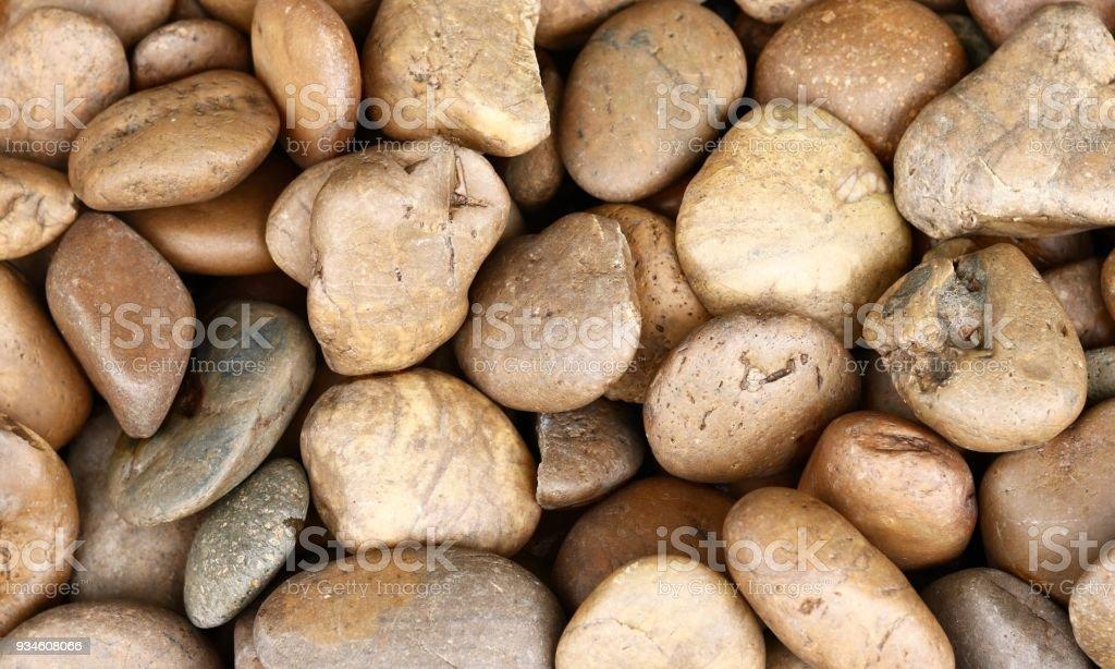Small stones stock photo