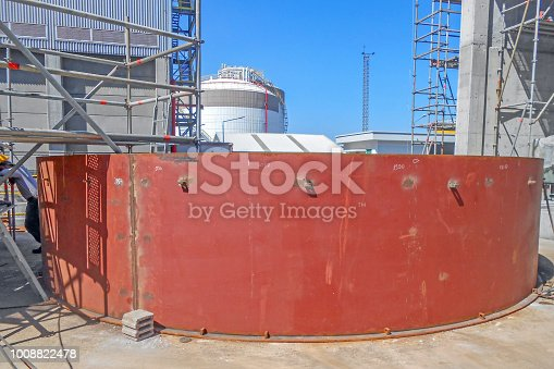 A small storage tank assembly in the plant, Turkey