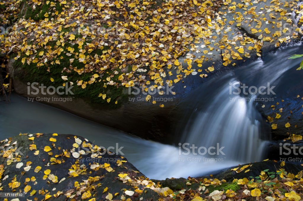 Small stream between the rocks royalty-free stock photo