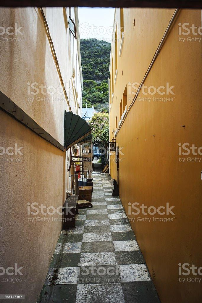 Small Street in Kalk Bay stock photo