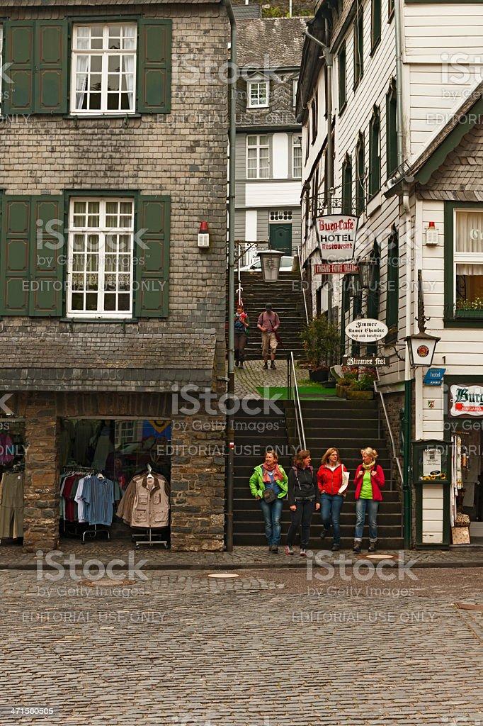 Small street of Monschau royalty-free stock photo
