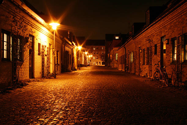 small street - lund stock photos and pictures