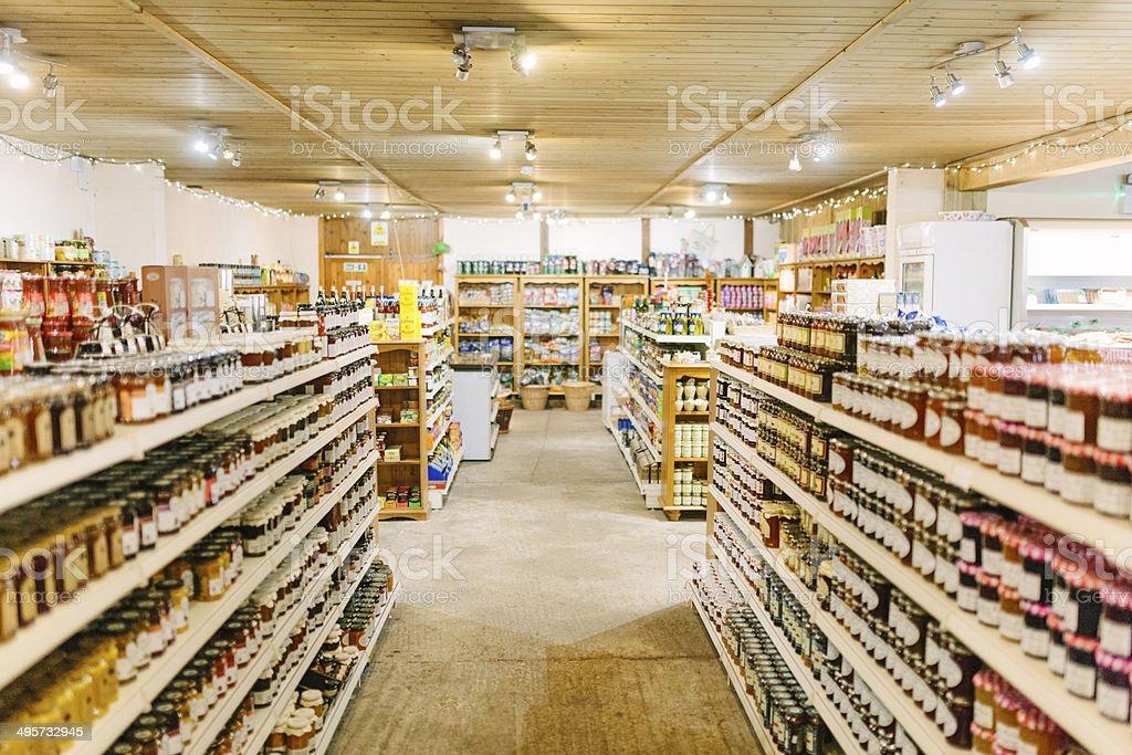 Small supermarket stock photo