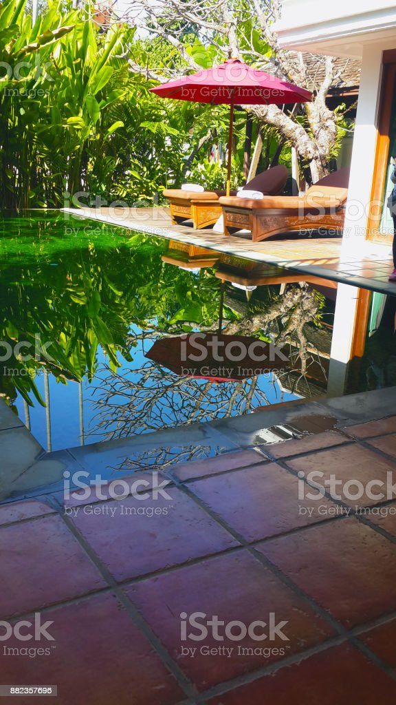 A Small Swimming Pool In The Villa Stock Photo Download Image