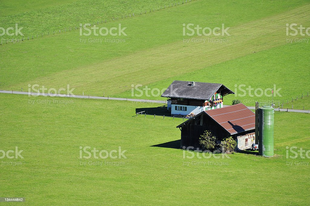 Small Swiss farm royalty-free stock photo