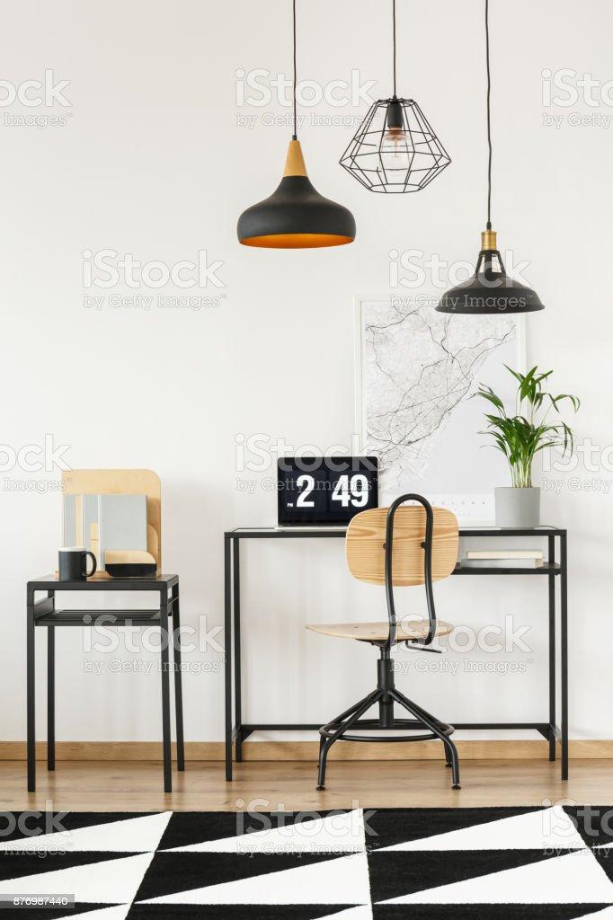 Small table with mug stock photo
