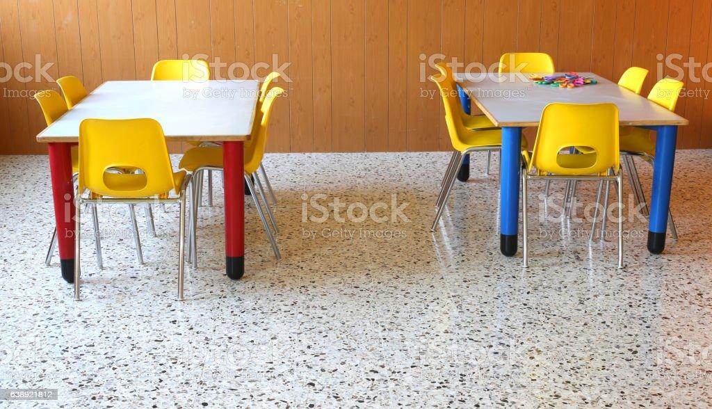 Picture of: Small Tables With Chairs In The Classroom Foto De Stock Y Mas Banco De Imagenes De Aprender Istock