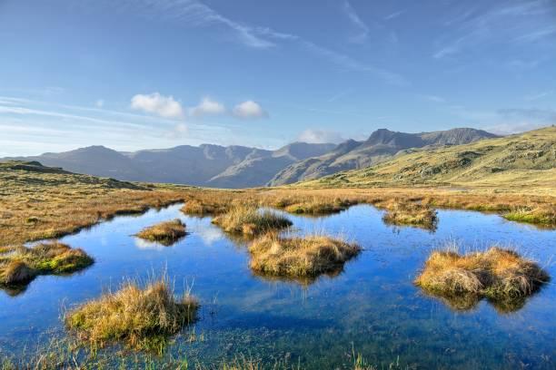 Ein kleiner Tarn auf Silver Howe, einem Hügel im englischen Lake District. – Foto