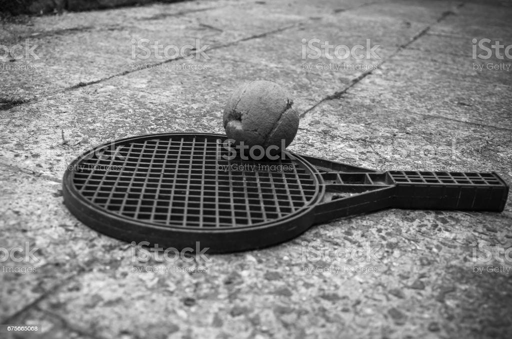 small tennis racket royalty-free stock photo