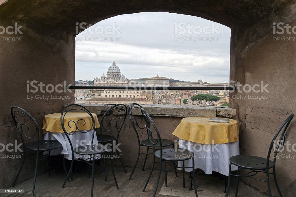 Small Terrace Overlooking the Vatican royalty-free stock photo