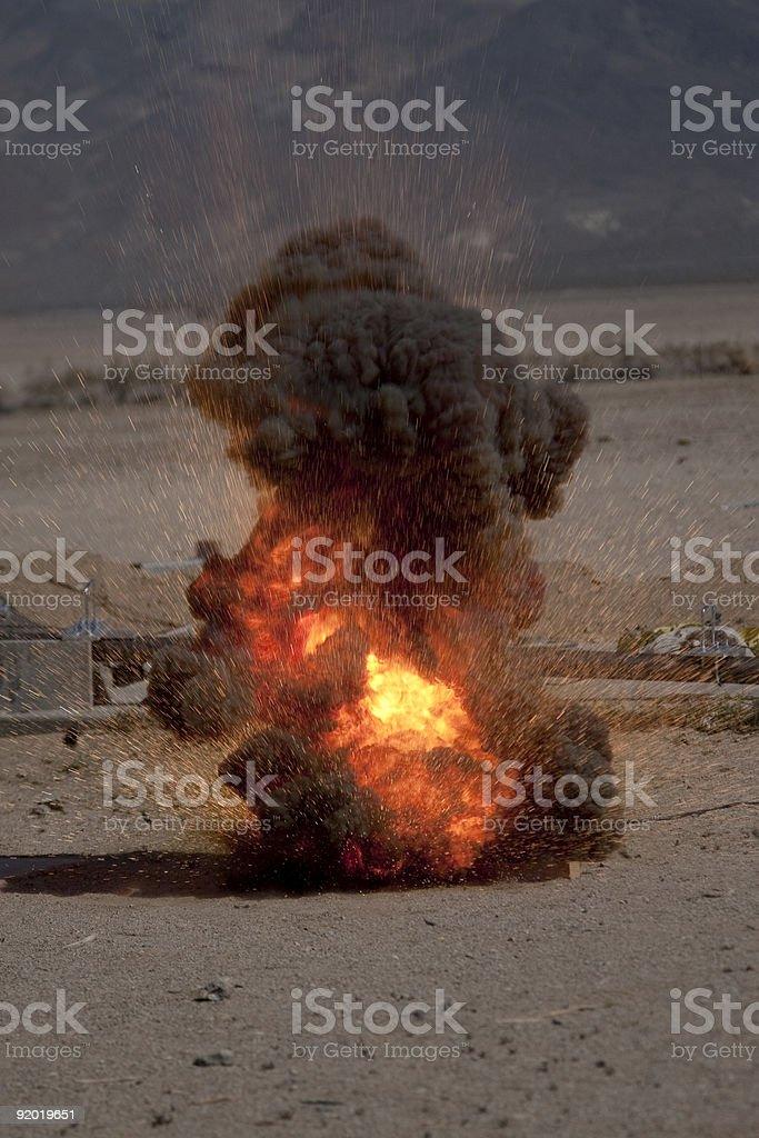 Small Thermite Explosion stock photo