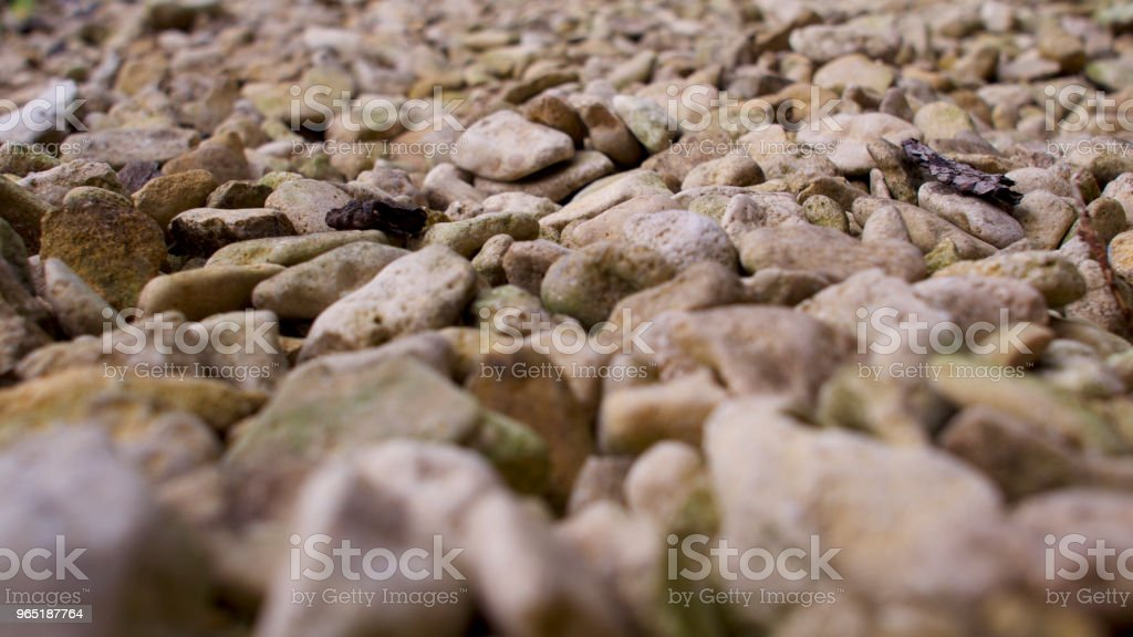 Small to medium size stones, light coloured pebbles and gravel in shades of brown. royalty-free stock photo