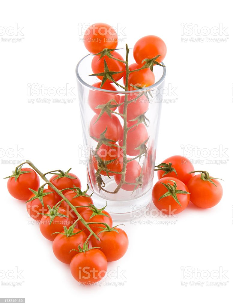 Small tomatoes in a glass royalty-free stock photo