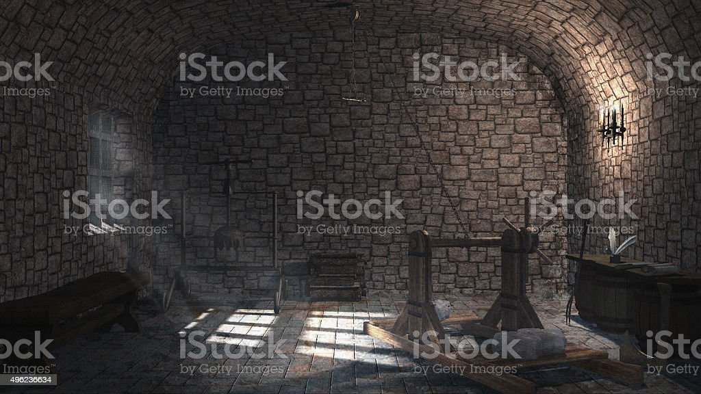 Small torture chamber stock photo