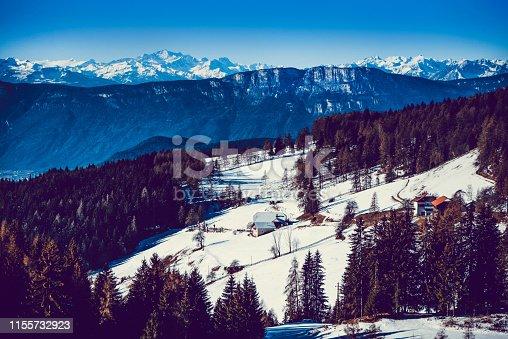 Small Tourist Village In The Alps