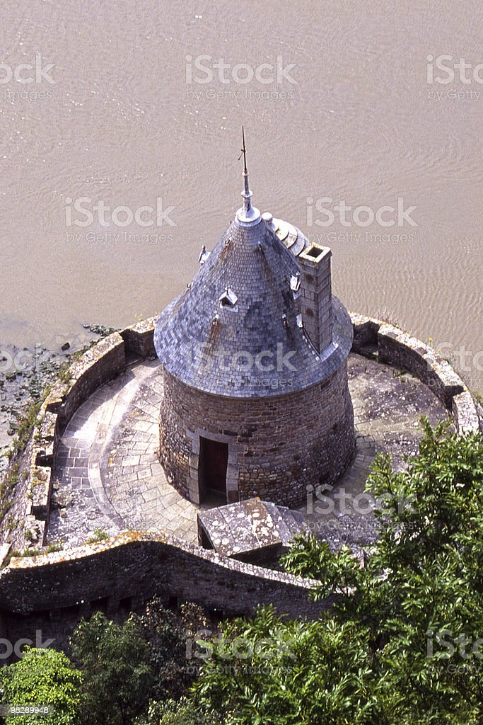 Small Tower at Mont Saint Michel, Normandy, France royalty-free stock photo