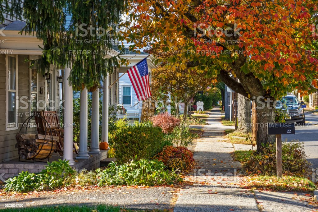 Small Town America stock photo