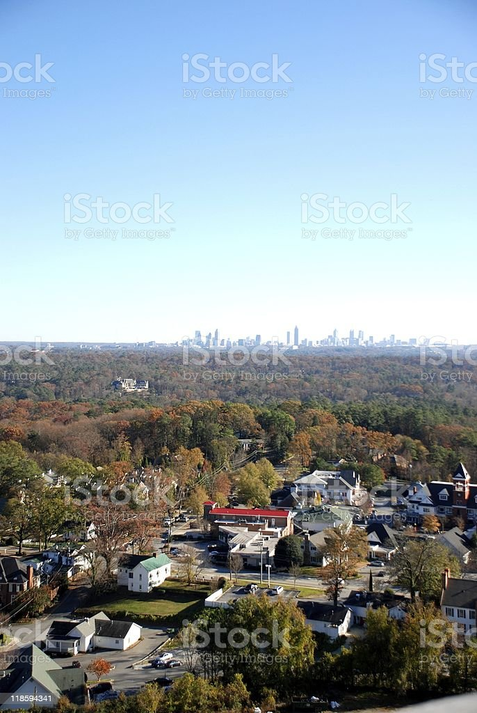 Small Town Among Atlanta stock photo